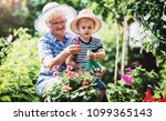 gardening with kids.... | Shutterstock . vector #1099365143