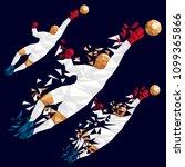 goalkeeper vector illustration... | Shutterstock .eps vector #1099365866