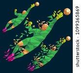 goalkeeper vector illustration... | Shutterstock .eps vector #1099365869