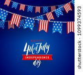 4th of july  independence day   ... | Shutterstock .eps vector #1099374593