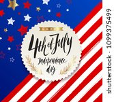 4th of july  independence day   ... | Shutterstock .eps vector #1099375499