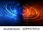 artificial intelligence. ai... | Shutterstock .eps vector #1099375913