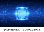 fingerprint integrated in a... | Shutterstock .eps vector #1099375916