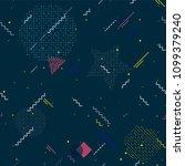 memphis seamless patterns.... | Shutterstock .eps vector #1099379240