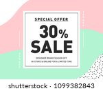 30  off special offer sale.... | Shutterstock .eps vector #1099382843