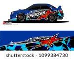 rally car vector livery....   Shutterstock .eps vector #1099384730