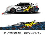 rally car vector livery....   Shutterstock .eps vector #1099384769