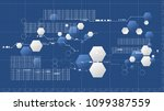 abstract technology hexagonal... | Shutterstock .eps vector #1099387559