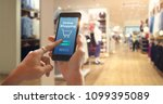 smart phone online shopping in... | Shutterstock . vector #1099395089