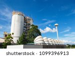 chemical factory and chemical... | Shutterstock . vector #1099396913