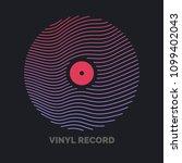 poster of the vinyl record.... | Shutterstock .eps vector #1099402043