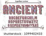 font alphabet vector typeface... | Shutterstock .eps vector #1099402433