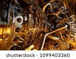 gas turbine engine of feed gas... | Shutterstock . vector #1099403360