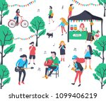colorful doodle music band... | Shutterstock .eps vector #1099406219