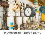pressure gauge install on... | Shutterstock . vector #1099410740
