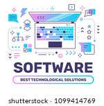 software color concept with... | Shutterstock .eps vector #1099414769