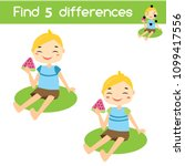 find the differences... | Shutterstock .eps vector #1099417556