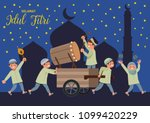 selamat idul fitri is another... | Shutterstock .eps vector #1099420229
