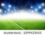 soccer field night stadium... | Shutterstock . vector #1099423433