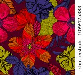 contemporary floral seamless... | Shutterstock .eps vector #1099425383