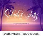summer party typography.... | Shutterstock .eps vector #1099427003