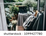 beautiful terrace or balcony... | Shutterstock . vector #1099427780