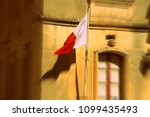 malta flag waving on the wind | Shutterstock . vector #1099435493