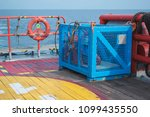 basket for lifting equipment... | Shutterstock . vector #1099435550