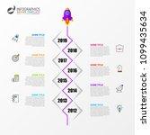 timeline. business concept.... | Shutterstock .eps vector #1099435634
