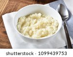 a bowl of mashed cauliflower... | Shutterstock . vector #1099439753