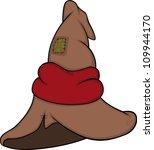 old cap of the wizard cartoon | Shutterstock .eps vector #109944170