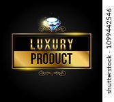 luxury banner with gold elements | Shutterstock . vector #1099442546