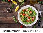 Fresh Salad Bowl With Shrimp ...