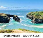 rugged coastline with cliff...   Shutterstock . vector #1099445666