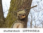 Inverted Old Birdhouse On A...