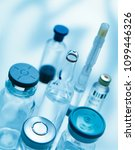 pharmaceutical vials and... | Shutterstock . vector #1099446326