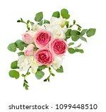 eucalyptus leaves  freesia and...   Shutterstock . vector #1099448510