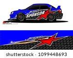rally car vector livery.... | Shutterstock .eps vector #1099448693