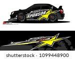 rally car vector livery.... | Shutterstock .eps vector #1099448900