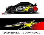 rally car vector livery.... | Shutterstock .eps vector #1099448918