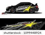 rally car vector livery.... | Shutterstock .eps vector #1099448924