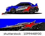 rally car vector livery.... | Shutterstock .eps vector #1099448930