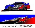rally car vector livery.... | Shutterstock .eps vector #1099448948