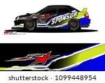rally car vector livery.... | Shutterstock .eps vector #1099448954