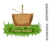 picnic basket isolated icon | Shutterstock .eps vector #1099449449