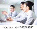 asian business team in meeting   Shutterstock . vector #109945130