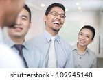 asian business team in meeting | Shutterstock . vector #109945148