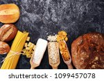 whole grain products with... | Shutterstock . vector #1099457078