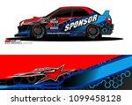 rally car vector livery.... | Shutterstock .eps vector #1099458128