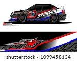 rally car vector livery.... | Shutterstock .eps vector #1099458134